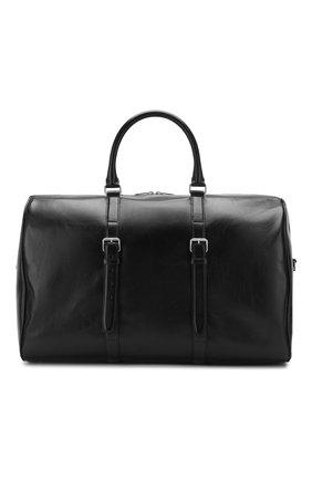 Мужская кожаная дорожная сумка SAINT LAURENT черного цвета, арт. 609078/1FR0E | Фото 1