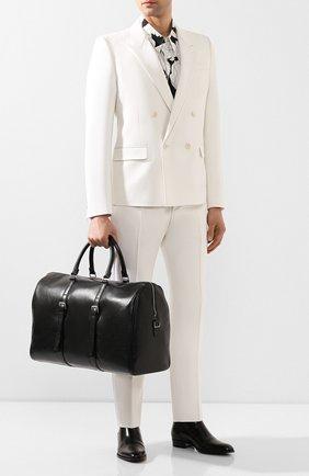 Мужская кожаная дорожная сумка SAINT LAURENT черного цвета, арт. 609078/1FR0E | Фото 2