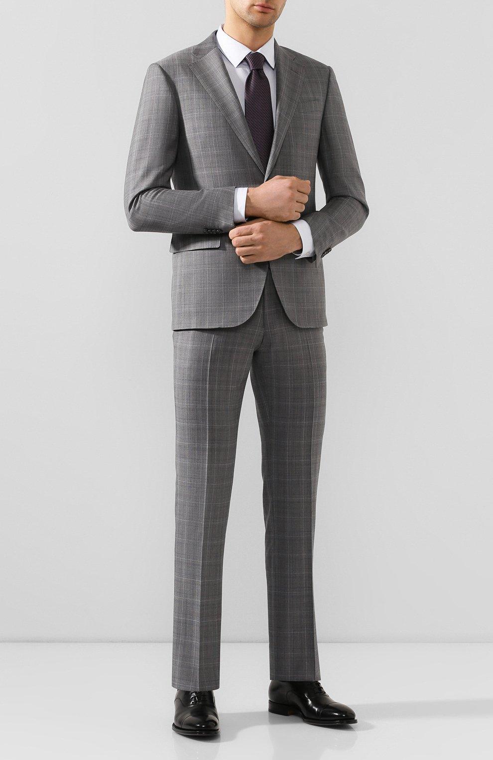 Мужские кожаные оксфорды SANTONI черного цвета, арт. MCPH17016RB2I0BRN01 | Фото 2