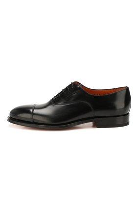 Мужские кожаные оксфорды SANTONI черного цвета, арт. MCPH17016RB2I0BRN01 | Фото 3