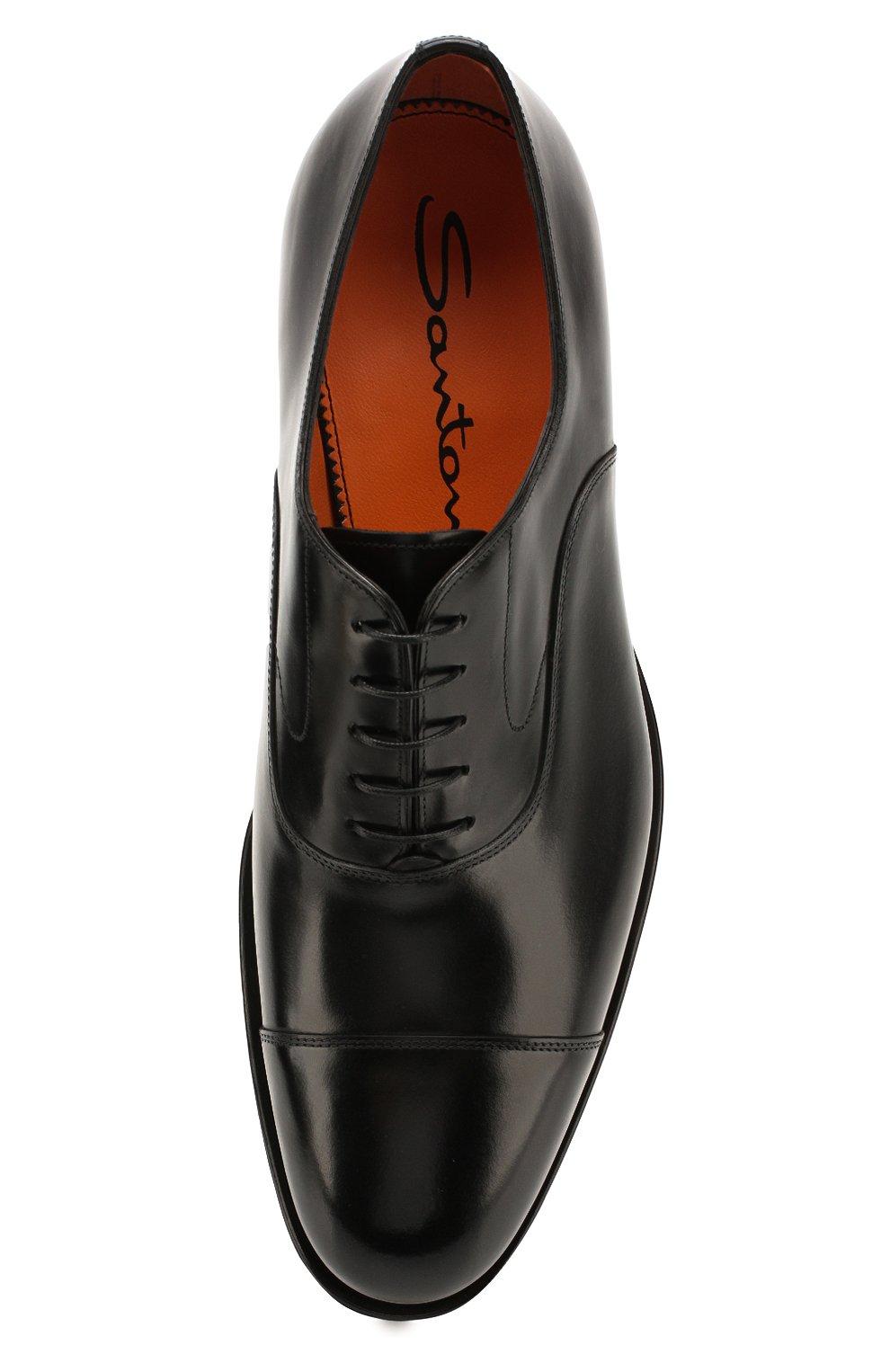 Мужские кожаные оксфорды SANTONI черного цвета, арт. MCPH17016RB2I0BRN01 | Фото 5