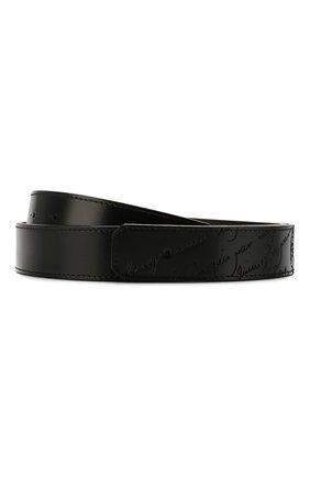 Мужской кожаный ремень BERLUTI черного цвета, арт. CS002-011 | Фото 1
