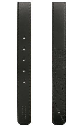 Мужской кожаный ремень BERLUTI черного цвета, арт. CS002-011 | Фото 2
