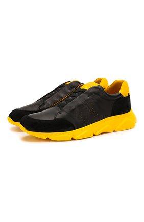 Мужские кожаные кроссовки HARRYS OF LONDON желтого цвета, арт. 43110322297/S0FT NAPPA | Фото 1