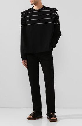 Мужские кожаные сандалии DRIES VAN NOTEN черного цвета, арт. MS27/064/QU120 | Фото 2