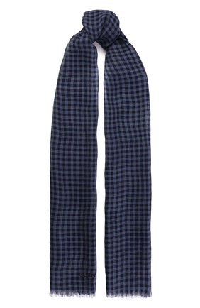 Мужской шарф из смеси льна и шелка CORNELIANI синего цвета, арт. 85B219-0129017/00/103 | Фото 1
