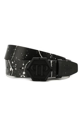 Мужской кожаный ремень PHILIPP PLEIN черного цвета, арт. P20A MVA0566 PLE096N | Фото 1