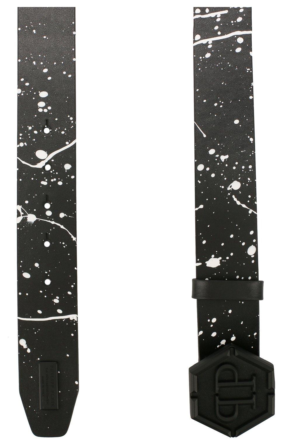 Мужской кожаный ремень PHILIPP PLEIN черного цвета, арт. P20A MVA0566 PLE096N   Фото 2