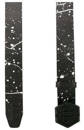 Мужской кожаный ремень PHILIPP PLEIN черного цвета, арт. P20A MVA0566 PLE096N | Фото 2