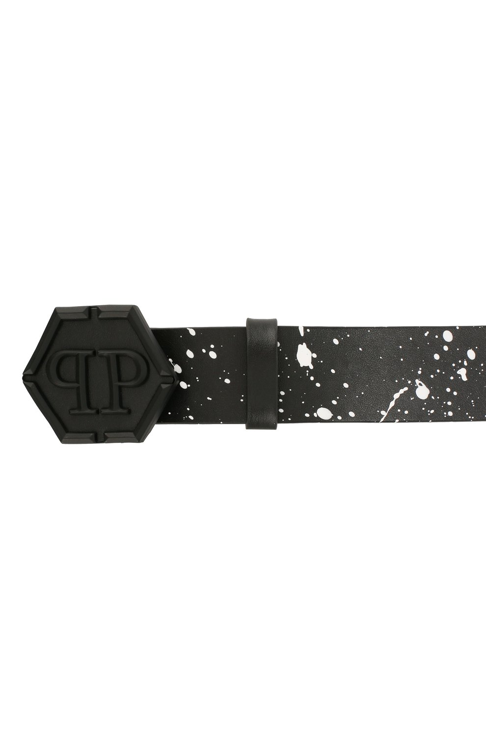 Мужской кожаный ремень PHILIPP PLEIN черного цвета, арт. P20A MVA0566 PLE096N   Фото 3