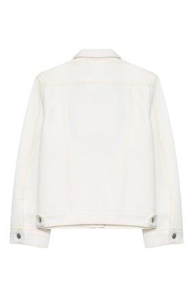 Детская джинсовая куртка BURBERRY белого цвета, арт. 8026068 | Фото 2