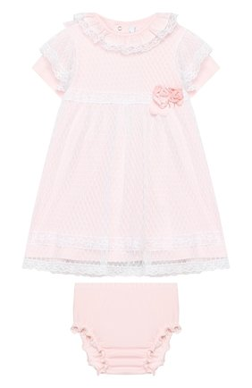 Женский комплект из платья и шорт ALETTA розового цвета, арт. RB00124/1M-2A | Фото 1