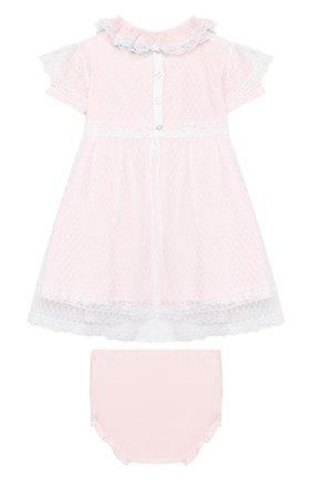 Женский комплект из платья и шорт ALETTA розового цвета, арт. RB00124/1M-2A | Фото 2