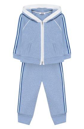Детский комплект из толстовки и брюк ALETTA голубого цвета, арт. RE00398/3A-6A | Фото 1