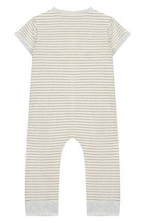 Детский хлопковый комбинезон ALETTA серого цвета, арт. RZ00238/1M-2A | Фото 2
