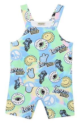 Детский комплект из футболки и комбинезона KENZO разноцветного цвета, арт. KQ37517 | Фото 2