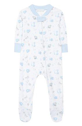 Детский хлопковый комбинезон MAGNOLIA BABY голубого цвета, арт. 649-428P-LB | Фото 1