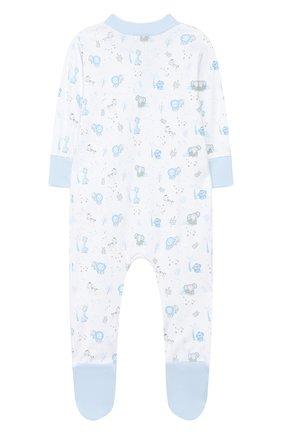 Детский хлопковый комбинезон MAGNOLIA BABY голубого цвета, арт. 649-428P-LB | Фото 2