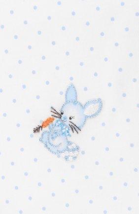 Детского хлопковое одеяло MAGNOLIA BABY голубого цвета, арт. 755-52-LB | Фото 2