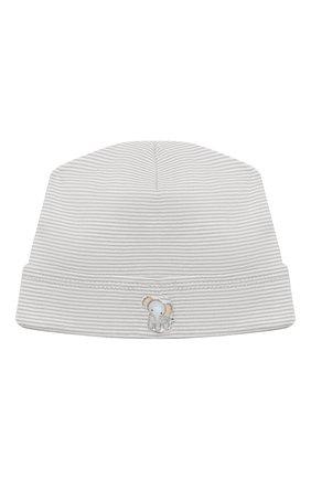 Детского хлопковая шапка MAGNOLIA BABY серого цвета, арт. 649-50-SV | Фото 1