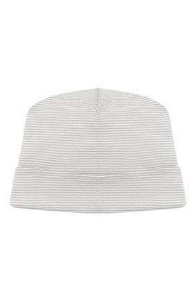 Детского хлопковая шапка MAGNOLIA BABY серого цвета, арт. 649-50-SV | Фото 2