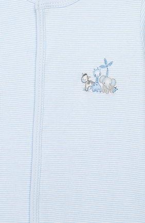 Детский хлопковый комбинезон MAGNOLIA BABY голубого цвета, арт. 649-402-LB | Фото 3 (Рукава: Длинные; Материал внешний: Хлопок)