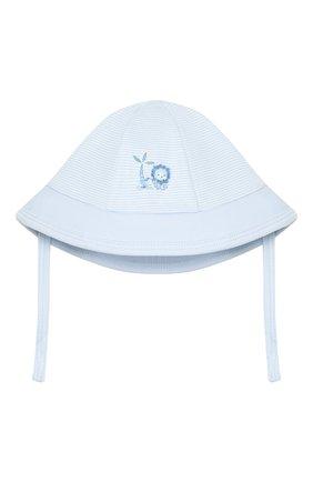 Детская хлопковая шапка MAGNOLIA BABY голубого цвета, арт. 649-53-LB | Фото 1