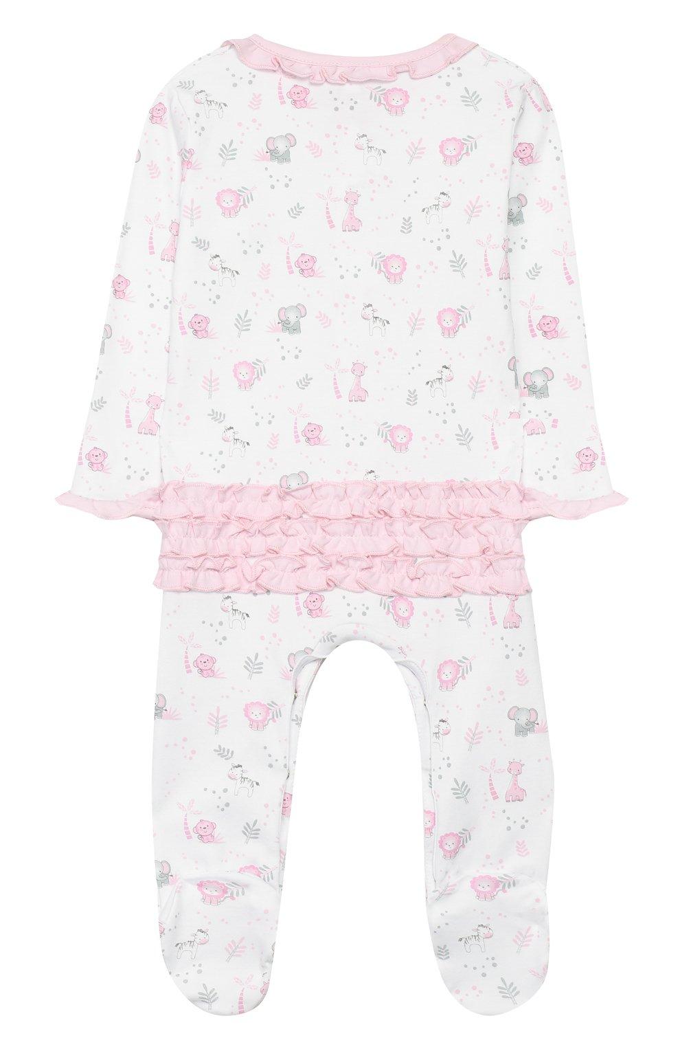Детский хлопковый комбинезон MAGNOLIA BABY розового цвета, арт. 649-410P-PK | Фото 2 (Рукава: Длинные; Материал внешний: Хлопок)