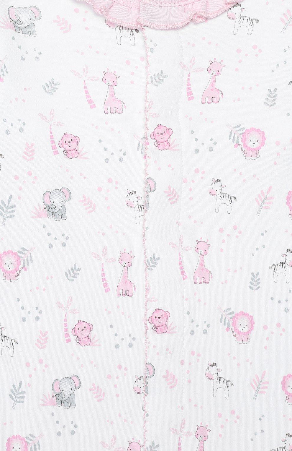 Детский хлопковый комбинезон MAGNOLIA BABY розового цвета, арт. 649-410P-PK | Фото 3 (Рукава: Длинные; Материал внешний: Хлопок)