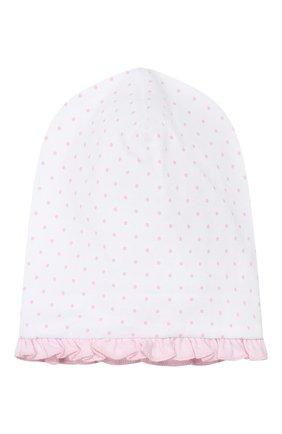 Детского хлопковая шапка MAGNOLIA BABY розового цвета, арт. 755-60-PK | Фото 1