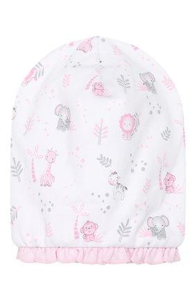 Детского хлопковая шапка MAGNOLIA BABY розового цвета, арт. 649-60P-PK | Фото 1