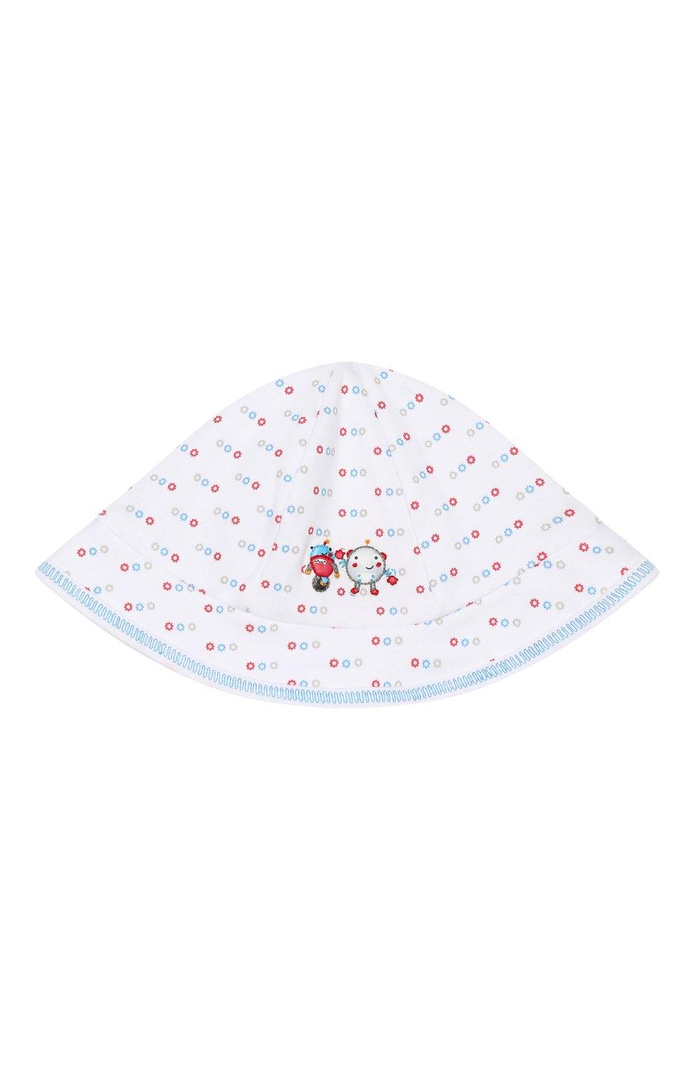Детская хлопковая шапка MAGNOLIA BABY голубого цвета, арт. 896-53-LB | Фото 1 (Материал: Текстиль, Хлопок)