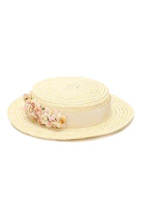Детская шляпа EIRENE белого цвета, арт. H229. | Фото 2