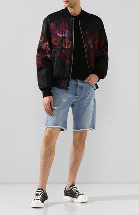 Мужские текстильные кеды BERLUTI темно-синего цвета, арт. S5035-001 | Фото 2