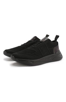 Мужские текстильные кроссовки BERLUTI черного цвета, арт. S5046-001 | Фото 1
