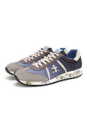 Мужские комбинированные кроссовки lucy PREMIATA голубого цвета, арт. LUCY/VAR4606 | Фото 1