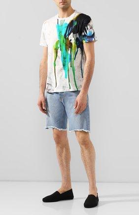 Мужские текстильные эспадрильи SAINT LAURENT черного цвета, арт. 605955/1Q210 | Фото 2