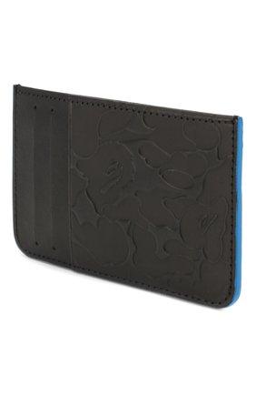 Мужской кожаный футляр для кредитных карт BAPE черного цвета, арт. 1F70182199 | Фото 2