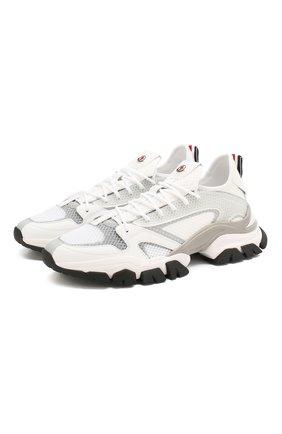 Мужские комбинированные кроссовки trevor MONCLER белого цвета, арт. F1-09A-4M716-00-02S8A | Фото 1