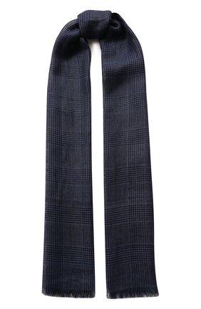 Мужской льняной шарф CORNELIANI синего цвета, арт. 85B219-0129017/00 | Фото 1