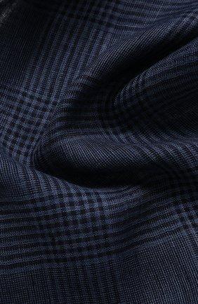 Мужской льняной шарф CORNELIANI синего цвета, арт. 85B219-0129017/00 | Фото 2