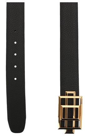 Мужской кожаный ремень ZILLI черного цвета, арт. MJL-CLAQD-01805/0218 | Фото 2