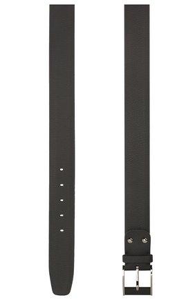 Мужской кожаный ремень ZILLI черного цвета, арт. MJL-CLAQE-01947/0819 | Фото 2