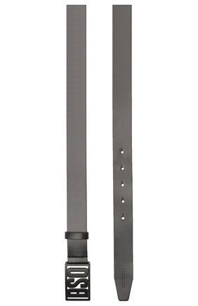 Мужской кожаный ремень DSQUARED2 черного цвета, арт. BEM0264 24900001 | Фото 2