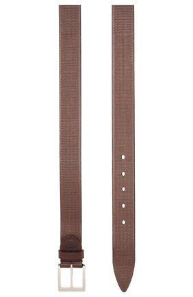 Мужской кожаный ремень CANALI темно-коричневого цвета, арт. 50C/KA00269 | Фото 2
