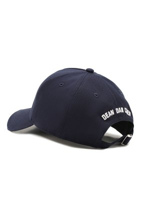 Мужской хлопковая бейсболка DSQUARED2 темно-синего цвета, арт. BCM0316 05C00001 | Фото 2