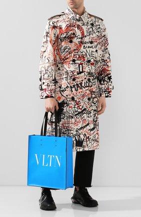 Мужская кожаная сумка тоут valentino garavani vltn VALENTINO синего цвета, арт. TY0B0731/LNG | Фото 2