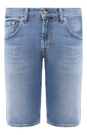 Мужские джинсовые шорты 7 FOR ALL MANKIND голубого цвета, арт. JSZ2A500HL | Фото 1