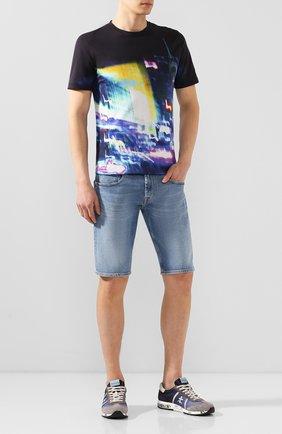 Мужские джинсовые шорты 7 FOR ALL MANKIND голубого цвета, арт. JSZ2A500HL | Фото 2