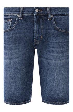 Мужские джинсовые шорты 7 FOR ALL MANKIND темно-синего цвета, арт. JSZ2A500HM | Фото 1